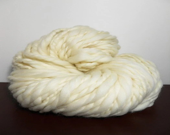 rapunzel - undyed, hand spun yarn - super bulky 2-ply - merino  wool