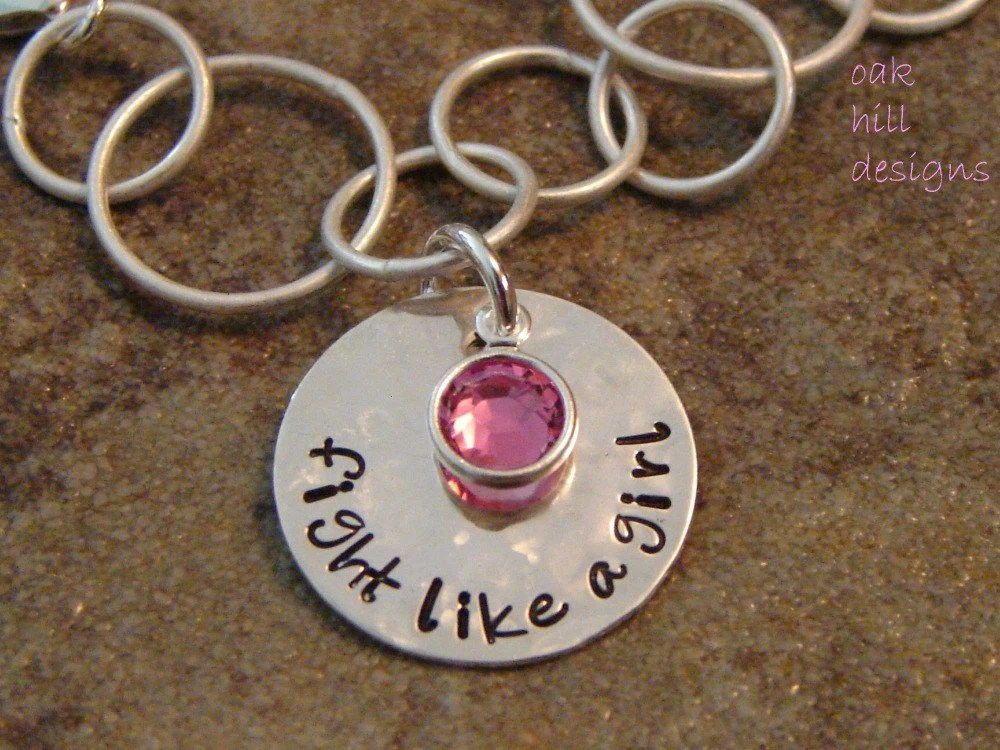 fight like a girl-breast cancer awareness bracelet