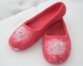 Like Raspberry...felted Slippers Handmade