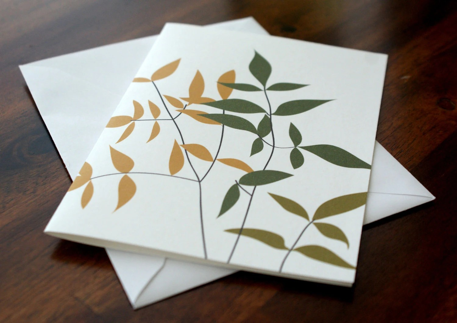 Branches & Leaves Note Card