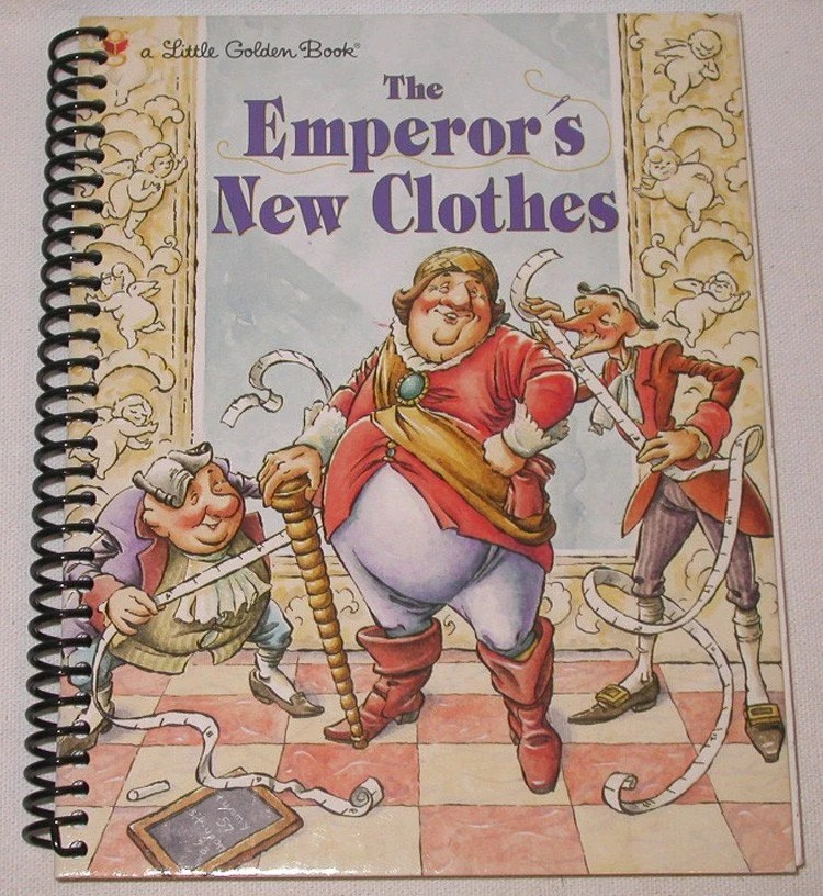 Altered  Little Golden Book Journal - The Emperors New Clothes   Notebook /  Sketchbook