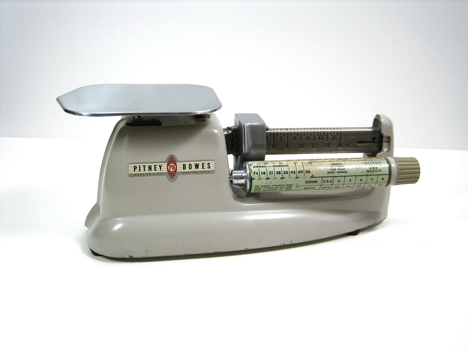 Vintage Industrial Pitney Bowes Postal Scale