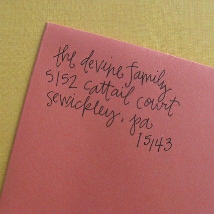 Left of Center Address Stamp (Self-Inking)
