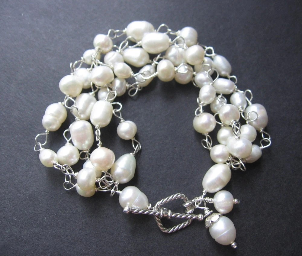 Audrey Bracelet - Pearls, Sterling Silver