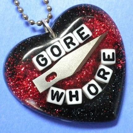 Gore Whore - resin pendant
