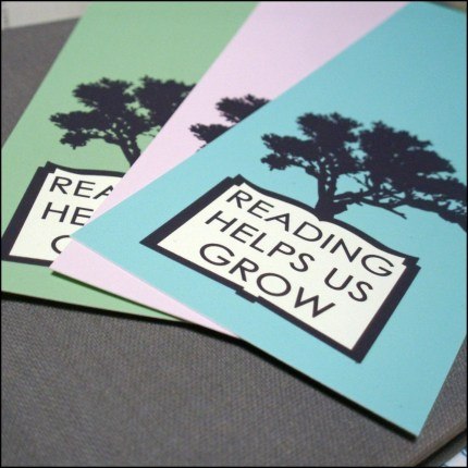 Reading Helps Us Grow Set of 3 Bookmarks