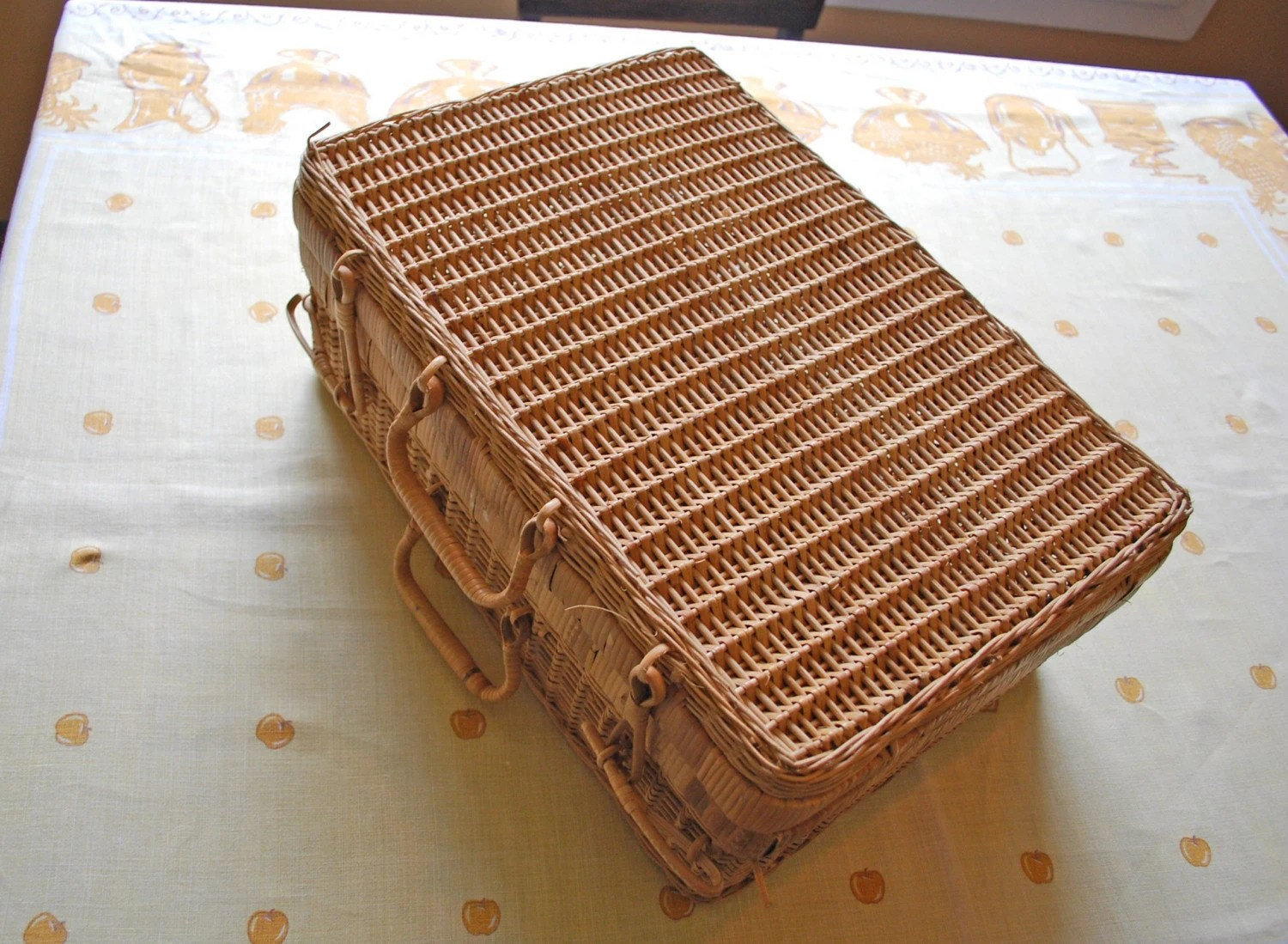 Wicker Picnic Basket by Ravennasgirlvintage