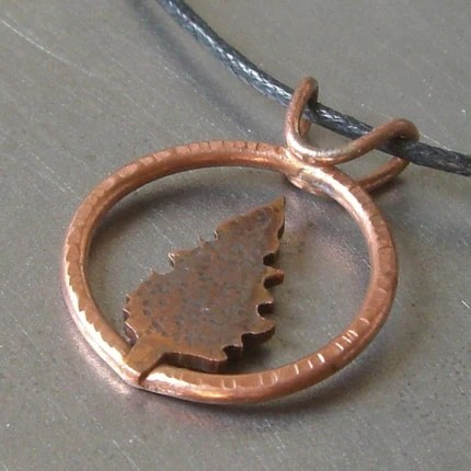 Around the Copper Cedar Tree Pendant by Beth Millner