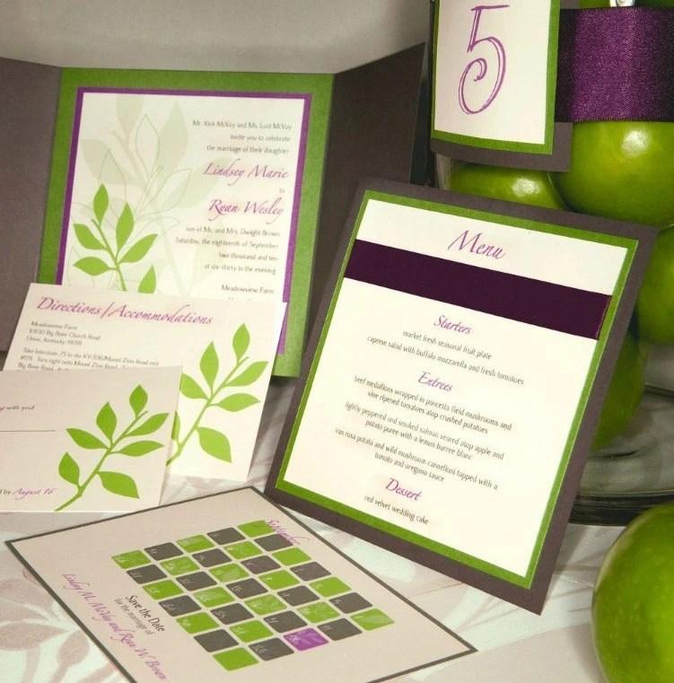 Leaf Cut-Out Invitation