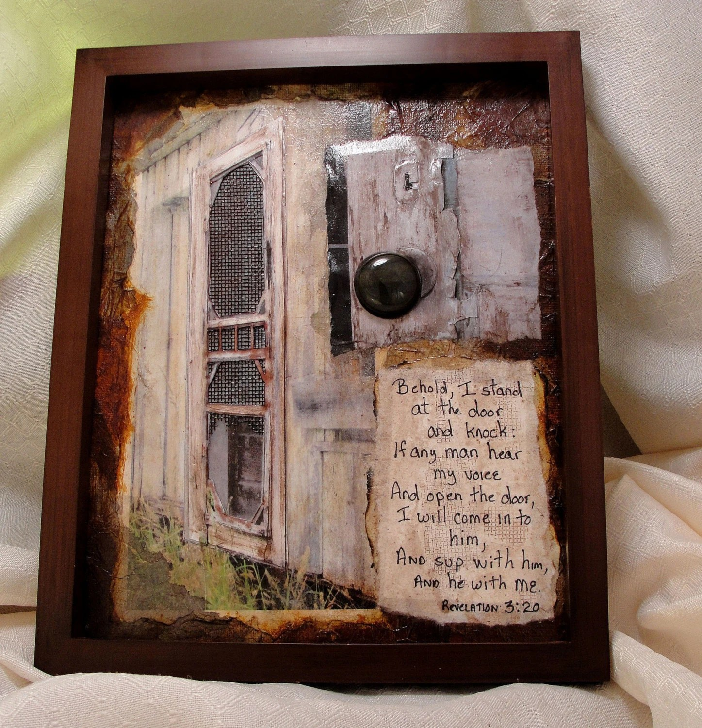 The Door is Open original OOAK mixed media art collage