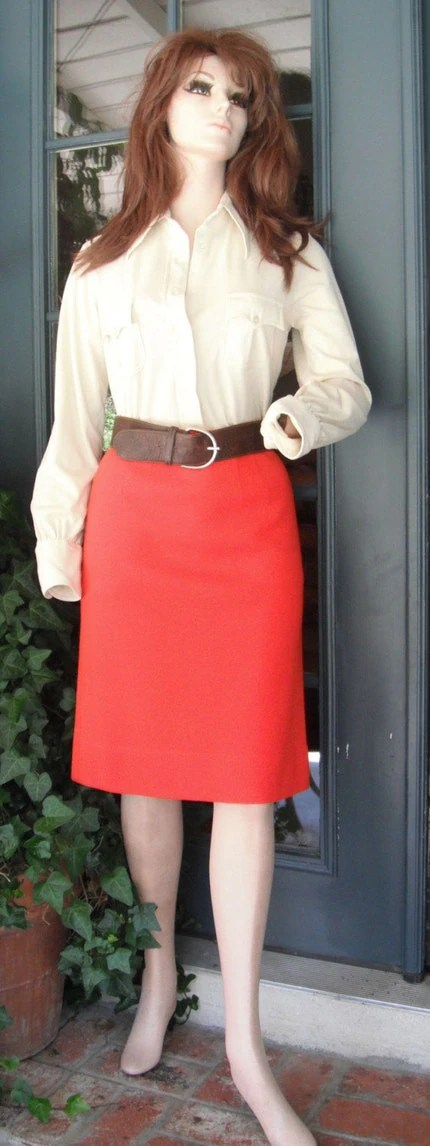 Vintage Knit Wool Skirt Madi in Italy for Macy Associates