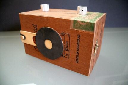 Wooden Cigar Box Pinhole Camera
