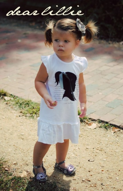 Fairyland Quote With Silhouette and Ribbon Toddler/Infant Dress - K