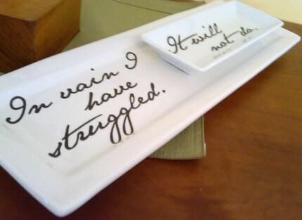 Pride and Prejudice Serving Dishes