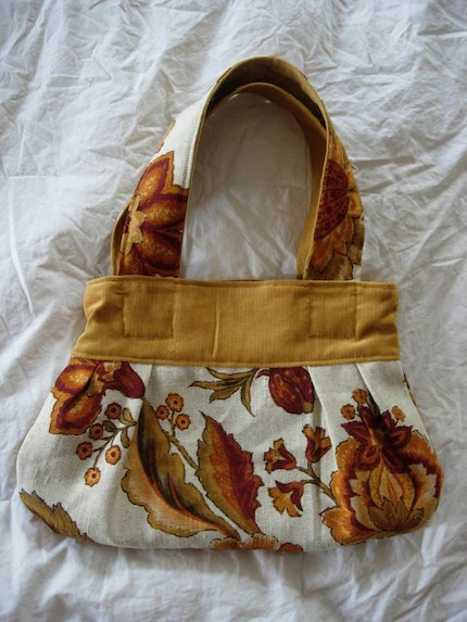 small pleated autumn floral bag