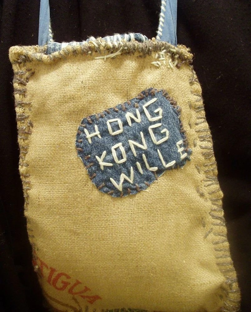 Burlap  Handbag Handemade Reuse