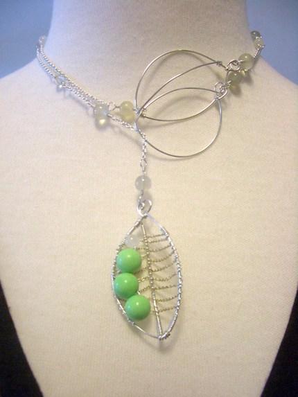 Pretty Peas Necklace, $52
