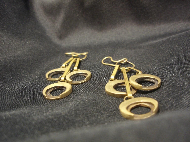 Bronze Crecent Moon Earrings