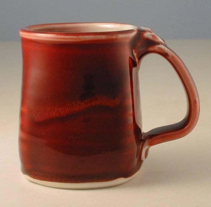 Porcelain Copper-Red Mug