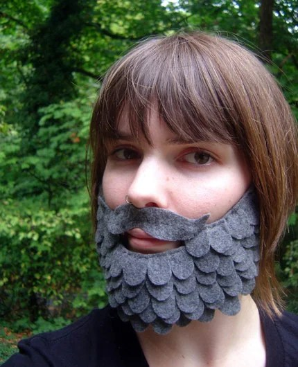 Grey Felt Beard