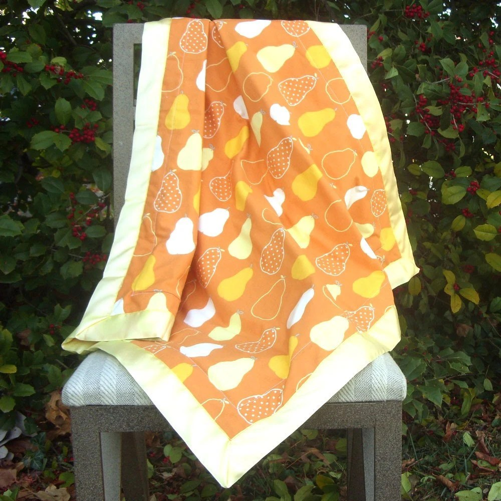 Pretty Pears Baby Quilt