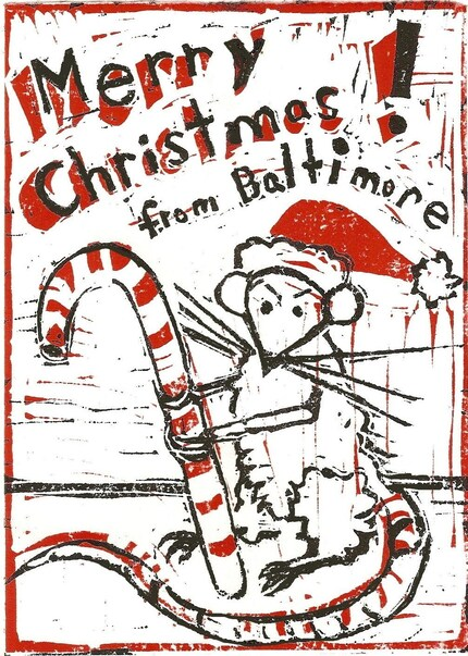 Baltimore Rat Christmas Cards