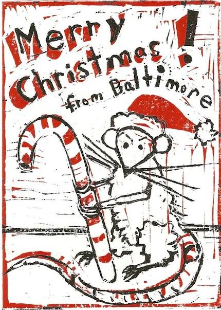 Baltimore Rat Christmas Cards