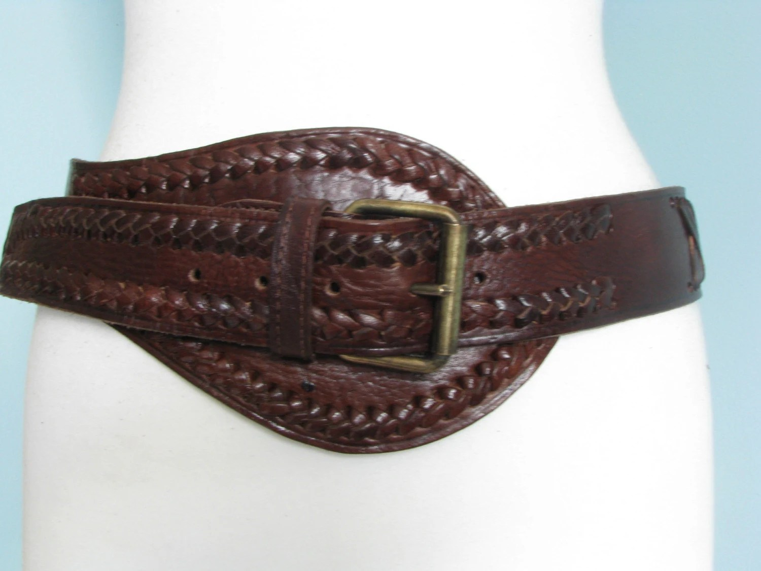 Stunning Brown Leather Corset Belt