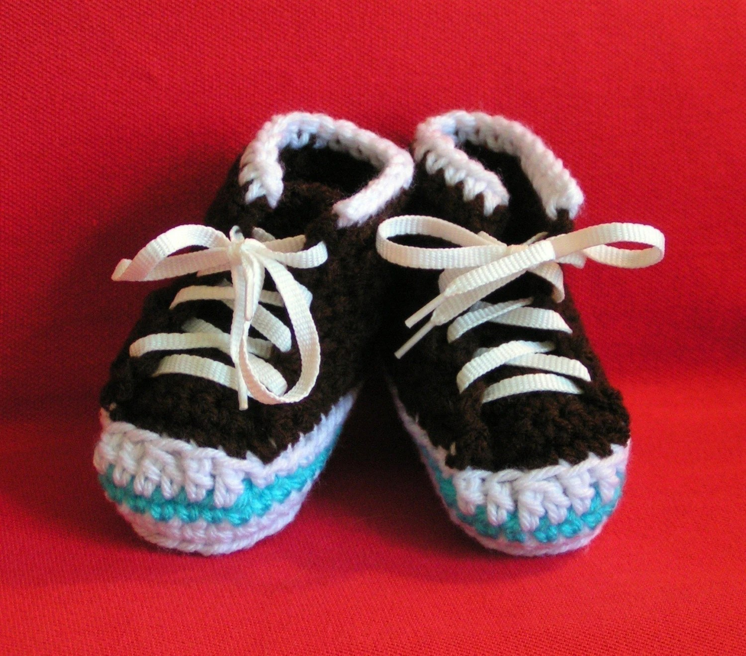 Baby High Top Sneaker  Booties Size 0-6 Chocolate Brown On Sale
