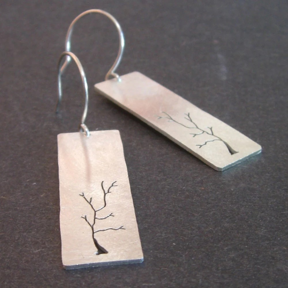 Handmade Sterling Silver Tree Jewelry by Beth Millner