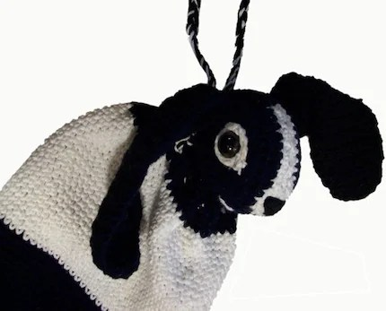 Dutch Bunny Rabbit Crochet Drawstring Bag Pattern