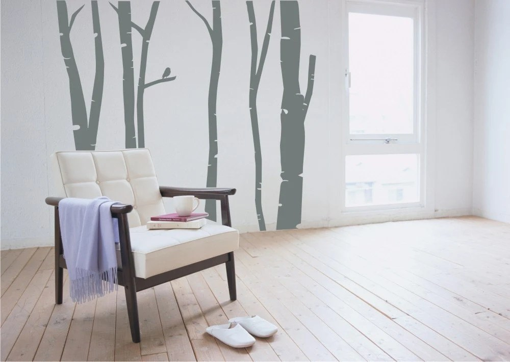 Birch Trees in Winter Wall Decals Stickers Art Graphics