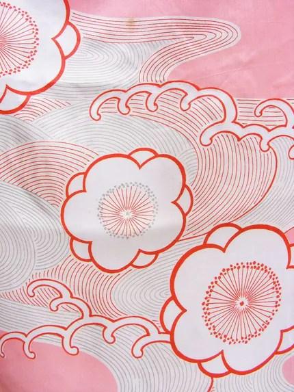 Pink Sakura Kimono Silk Panel