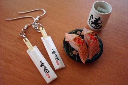 Japanese Mini Chopstick Earings