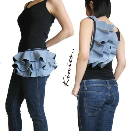 Ruffled Waist Purse