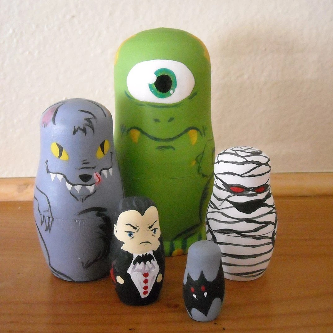 Monster Mash Nesting Dolls