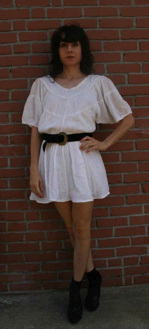 Vintage Gauze Mini Dress