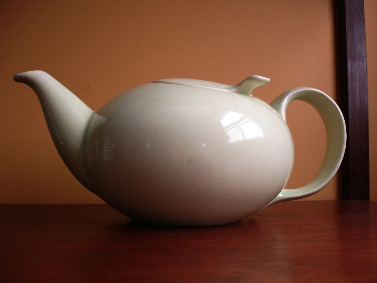 Classic Eva Zeisel town and country teapot.  Mid Century Modern.