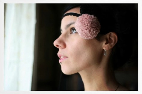 The Juggler Girl's headband (black, dusty pink)