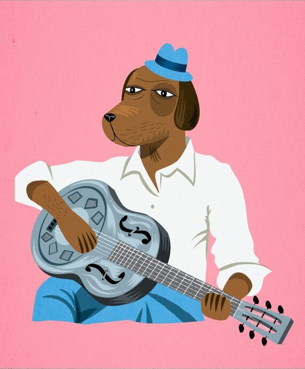 Hound Dog Slim - Limited Edition Print