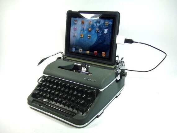 USB Typewriter Keyboard -- Olympia Portable with USB Port