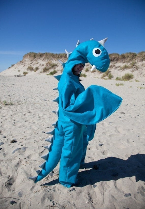 Adult Halloween Loch Ness Sea Monster Costume Custom Size