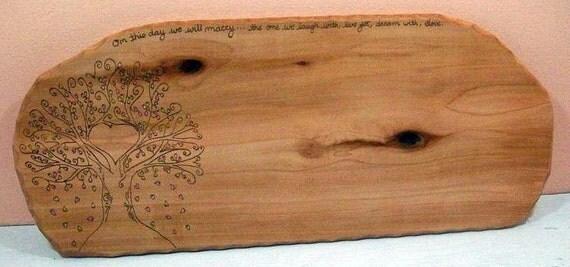 Large Wedding Heart Tree Signature Mat