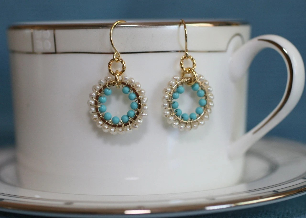 ELECTION DAY SALE HALLOWEEN SALE Turquoise and White Hoops