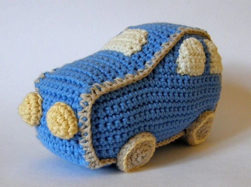 Organic cotton soft car baby toy