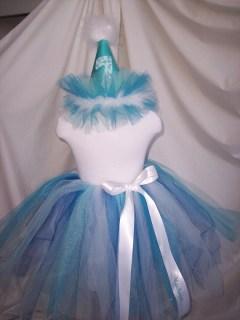 Winter Wonderland Birthday Tutu and Hat personalized Princess tutu