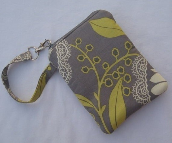 Customizeable gadget case with Amy Butler Lacework in Grey Doubly Padded for great protection SEE SHOP ANNC. FOR FREE SHIPPING OFFER