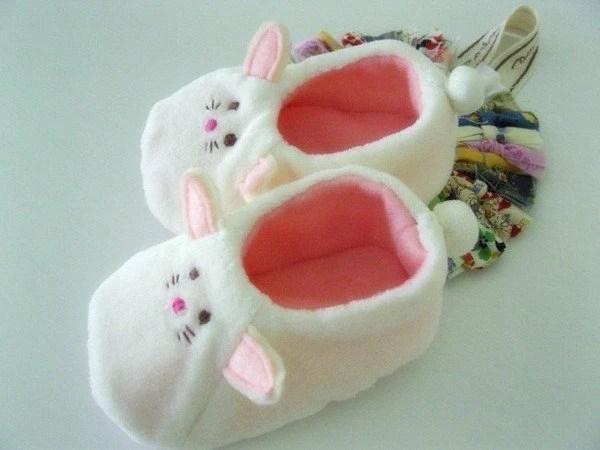 no 171 Baby Rabbit Shoes PDF Pattern (5 Szs 0-18 months)