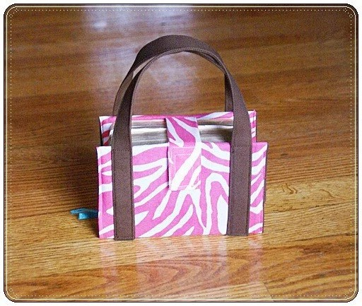 LDS Compact Scripture Cover  Hot Pink Zebra and Brown
