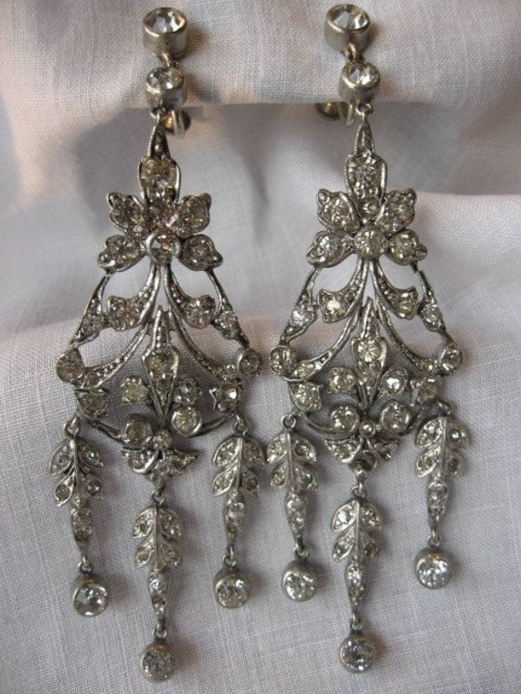 Circa 1920's Pendant Earrings